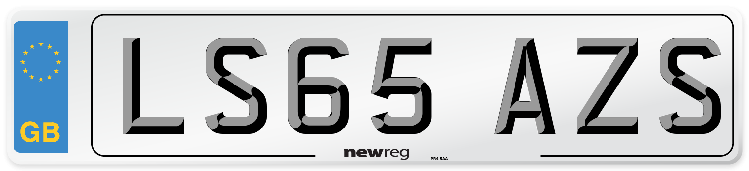 LS65 AZS Number Plate from New Reg