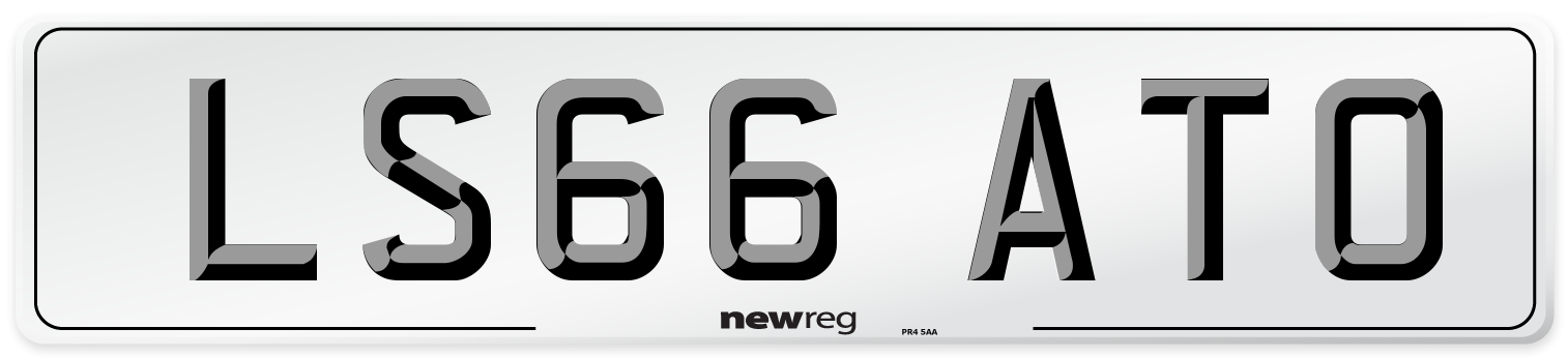 LS66 ATO Number Plate from New Reg