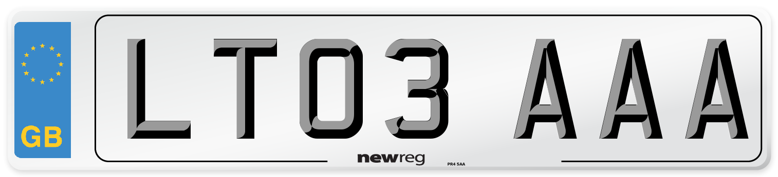 LT03 AAA Number Plate from New Reg