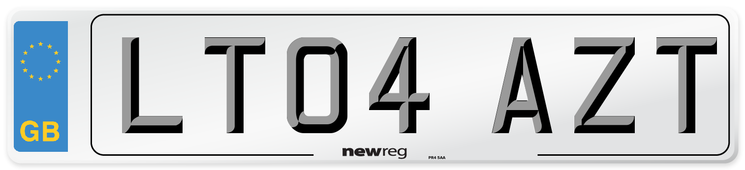 LT04 AZT Number Plate from New Reg