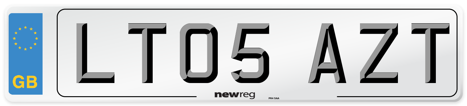 LT05 AZT Number Plate from New Reg