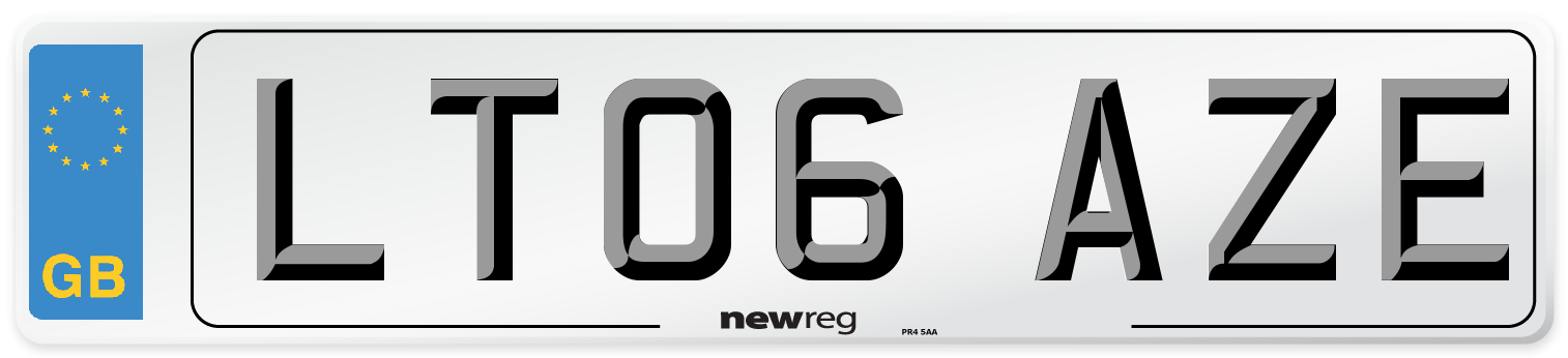 LT06 AZE Number Plate from New Reg