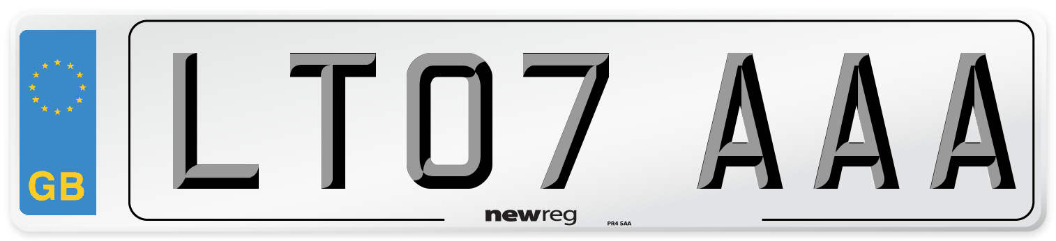 LT07 AAA Number Plate from New Reg