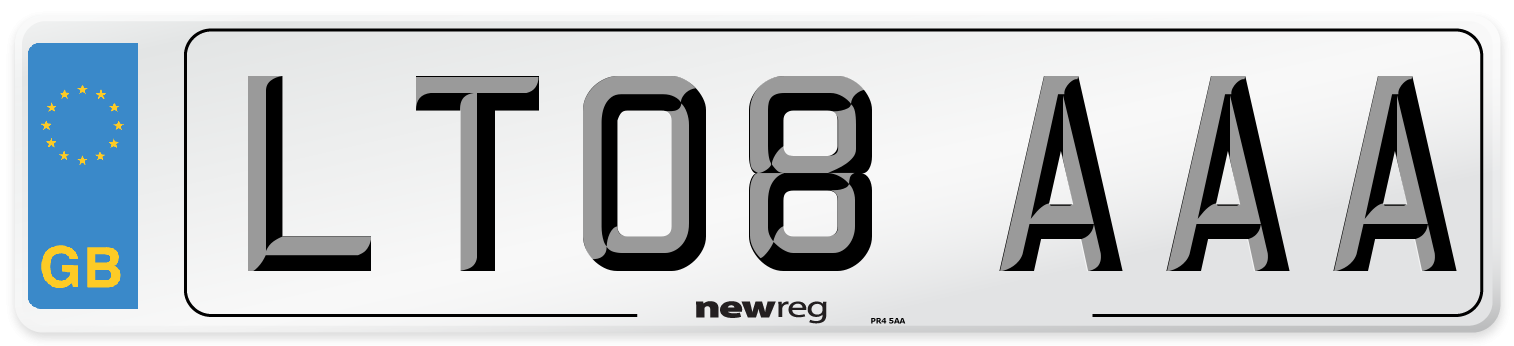 LT08 AAA Number Plate from New Reg
