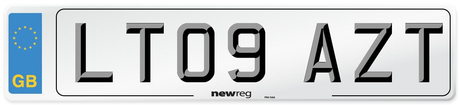 LT09 AZT Number Plate from New Reg