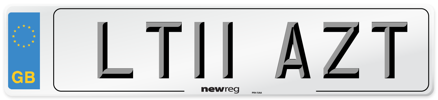 LT11 AZT Number Plate from New Reg
