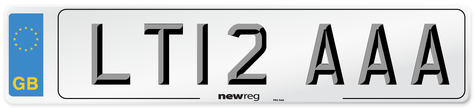 LT12 AAA Number Plate from New Reg