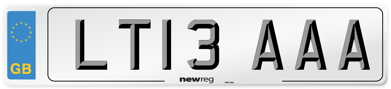 LT13 AAA Number Plate from New Reg