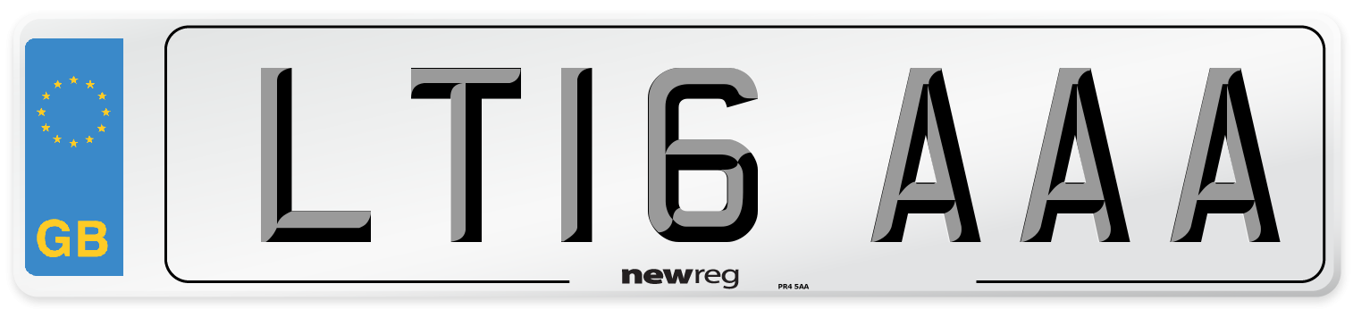 LT16 AAA Number Plate from New Reg