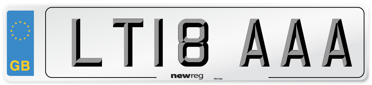 LT18 AAA Number Plate from New Reg