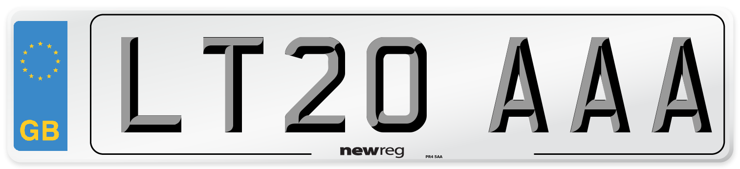 LT20 AAA Number Plate from New Reg