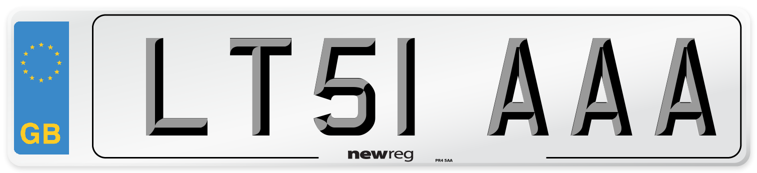 LT51 AAA Number Plate from New Reg