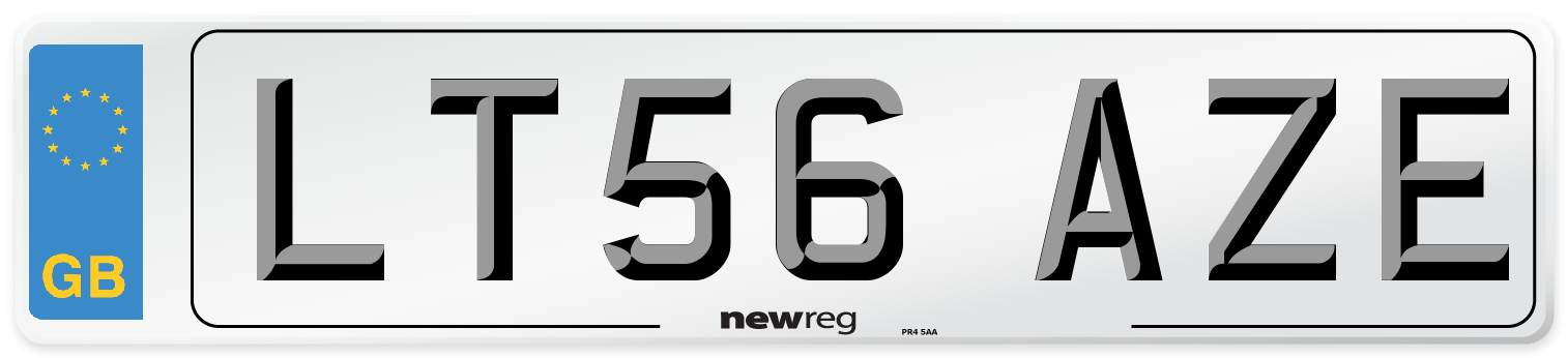 LT56 AZE Number Plate from New Reg