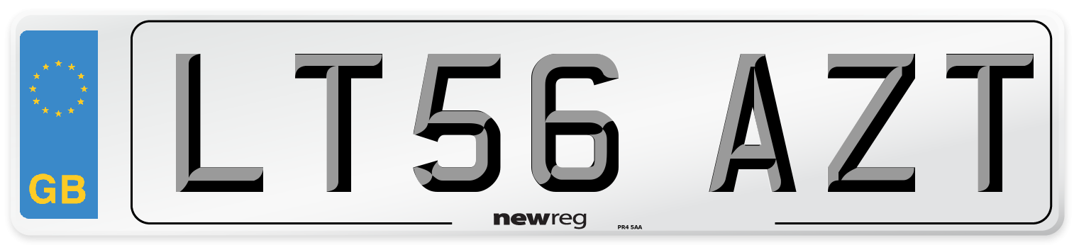 LT56 AZT Number Plate from New Reg