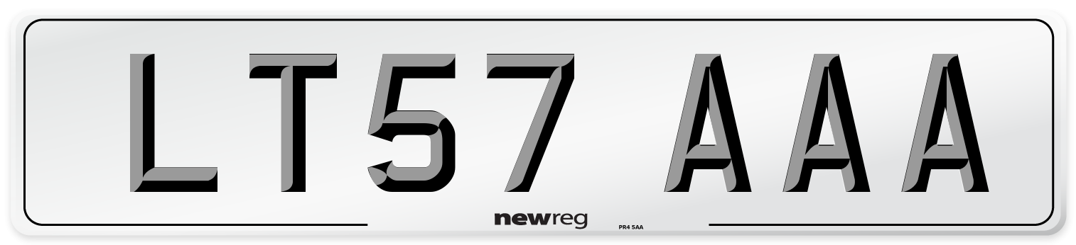LT57 AAA Number Plate from New Reg