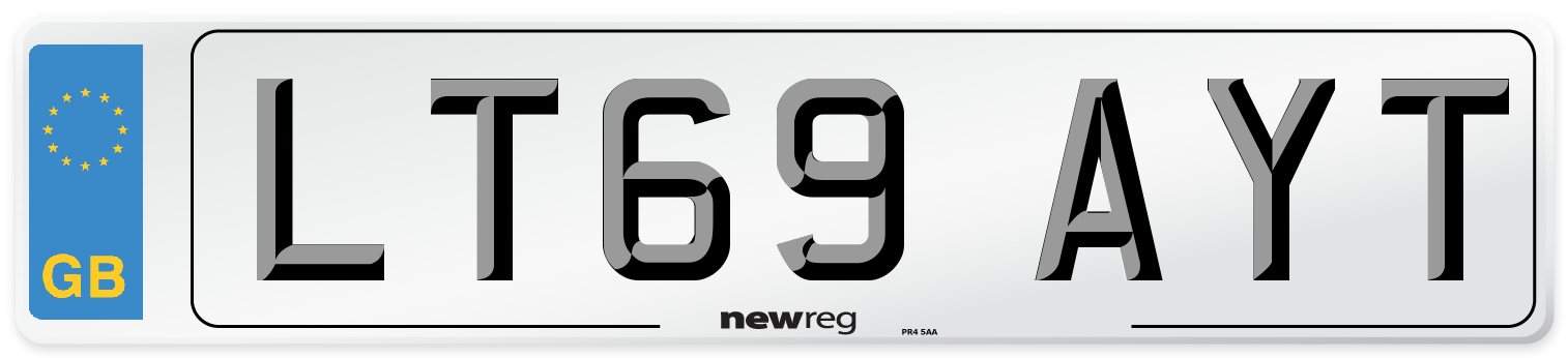 LT69 AYT Number Plate from New Reg
