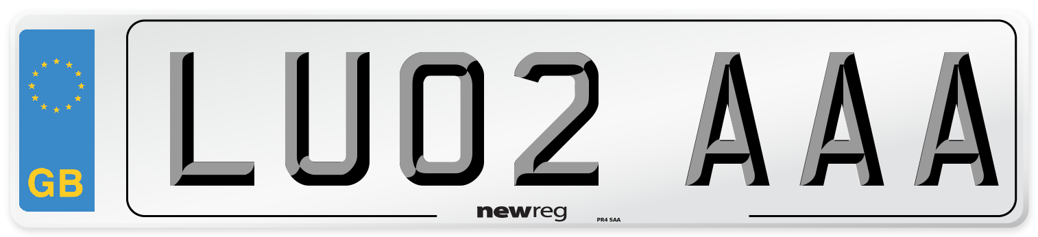 LU02 AAA Number Plate from New Reg