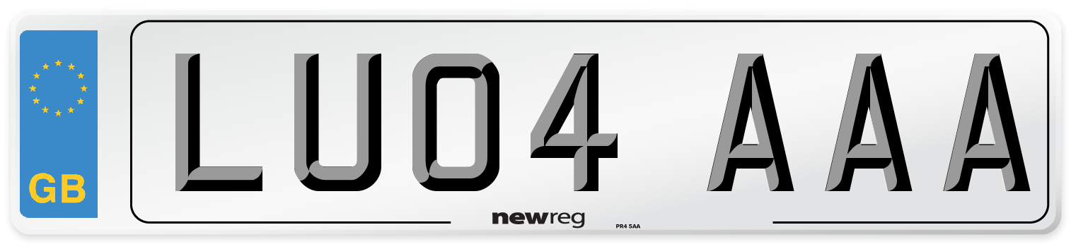 LU04 AAA Number Plate from New Reg