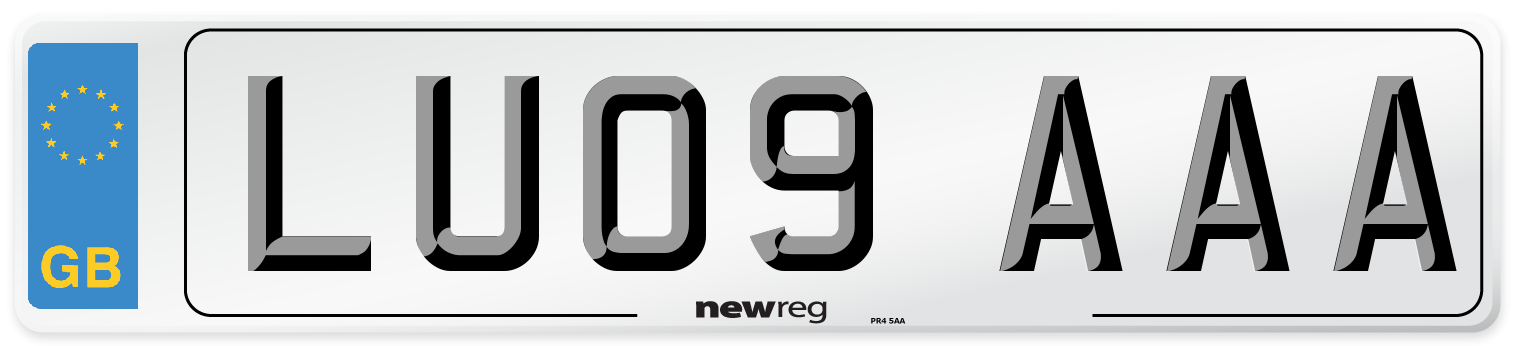 LU09 AAA Number Plate from New Reg