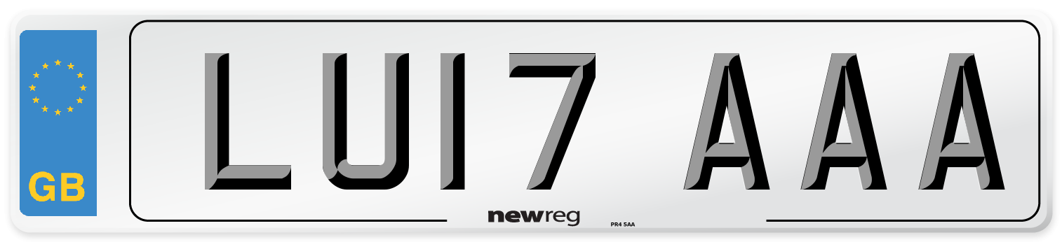LU17 AAA Number Plate from New Reg