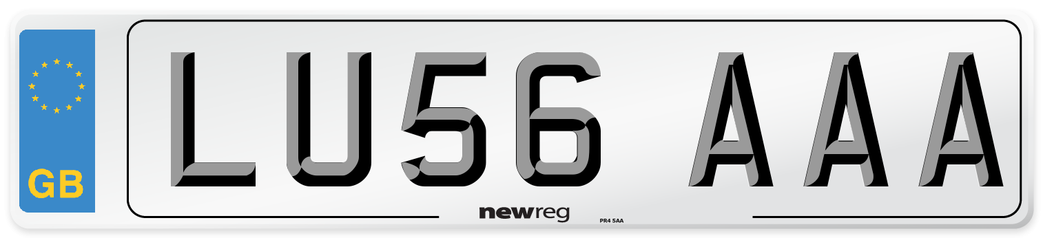 LU56 AAA Number Plate from New Reg