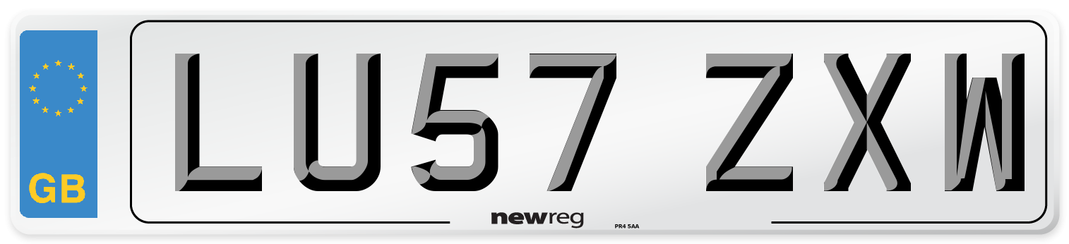 LU57 ZXW Number Plate from New Reg