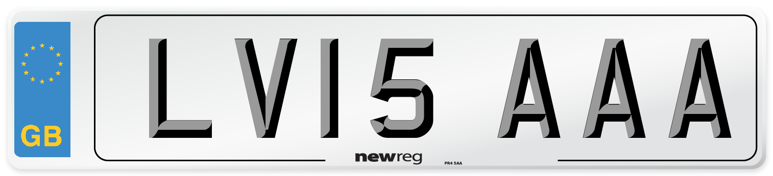 LV15 AAA Number Plate from New Reg