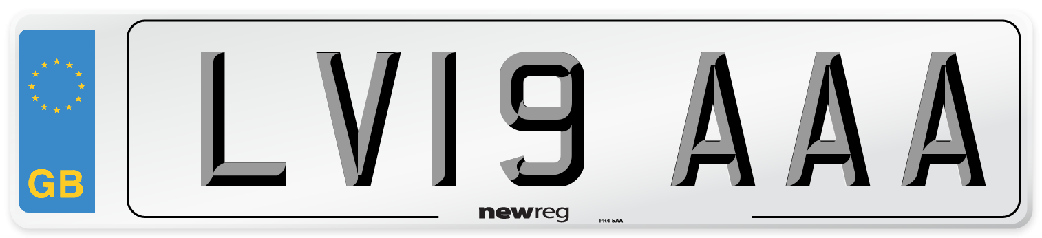 LV19 AAA Number Plate from New Reg