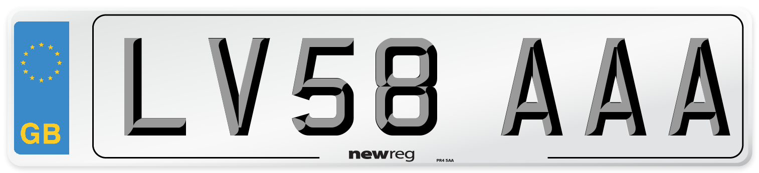 LV58 AAA Number Plate from New Reg