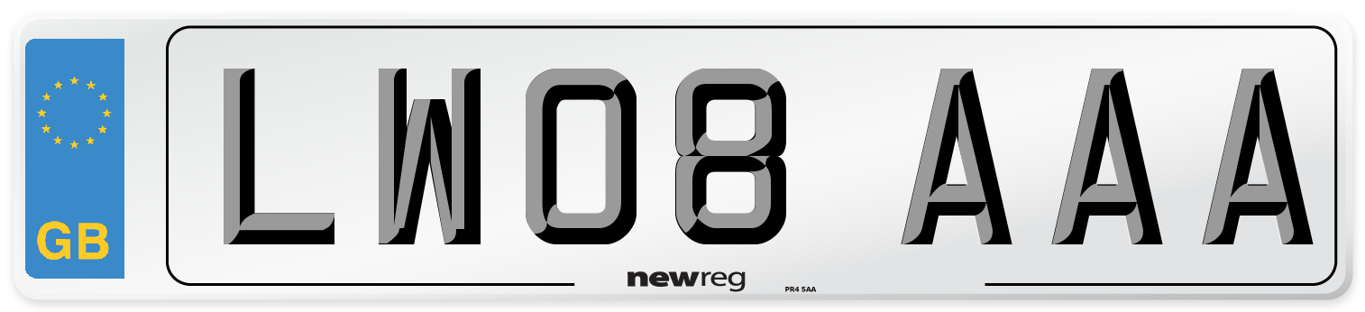 LW08 AAA Number Plate from New Reg