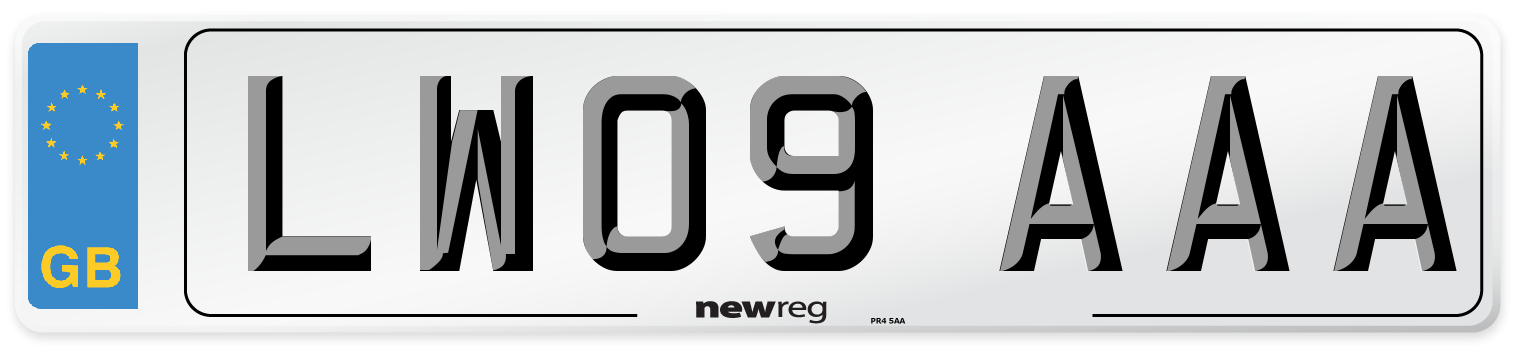 LW09 AAA Number Plate from New Reg