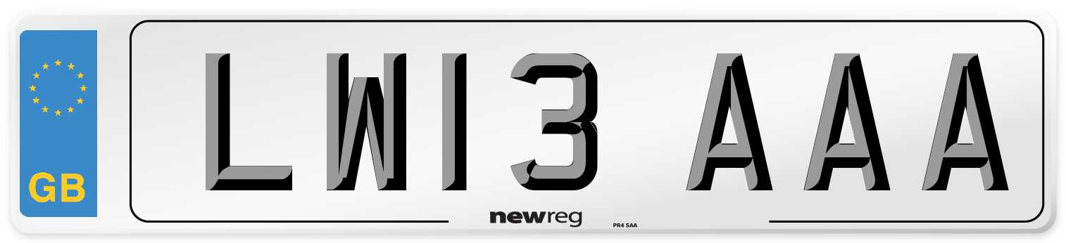 LW13 AAA Number Plate from New Reg