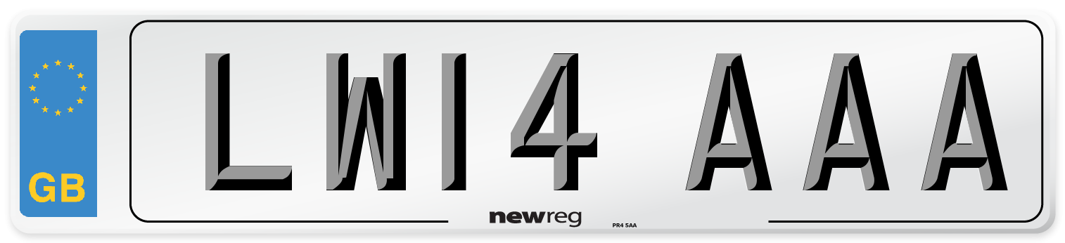 LW14 AAA Number Plate from New Reg