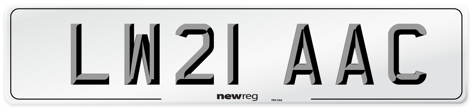 LW21 AAC Number Plate from New Reg