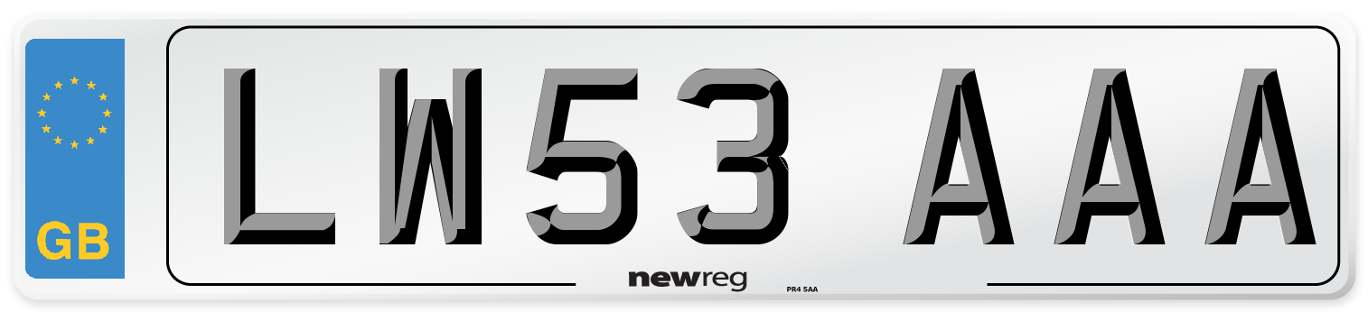 LW53 AAA Number Plate from New Reg