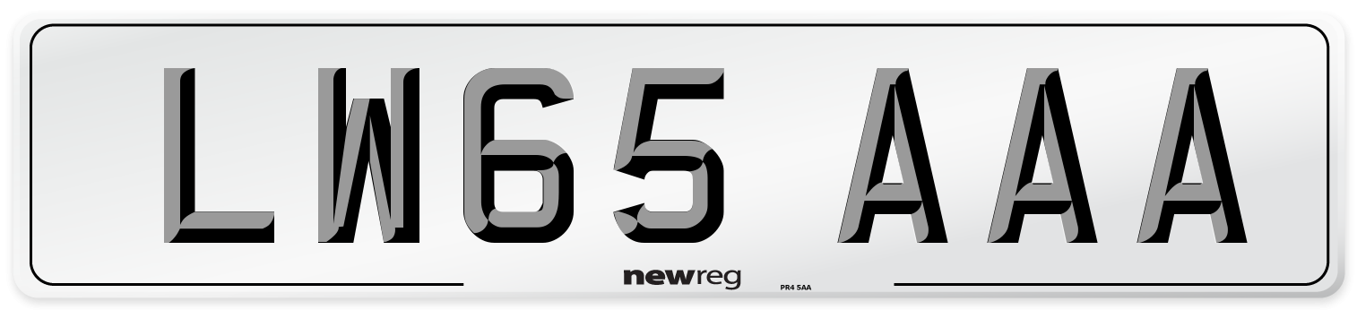 LW65 AAA Number Plate from New Reg