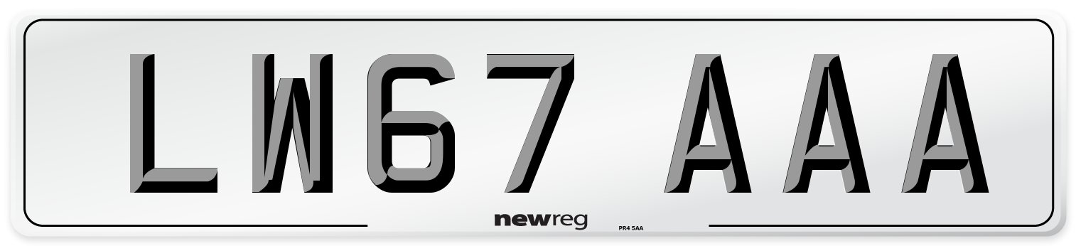 LW67 AAA Number Plate from New Reg