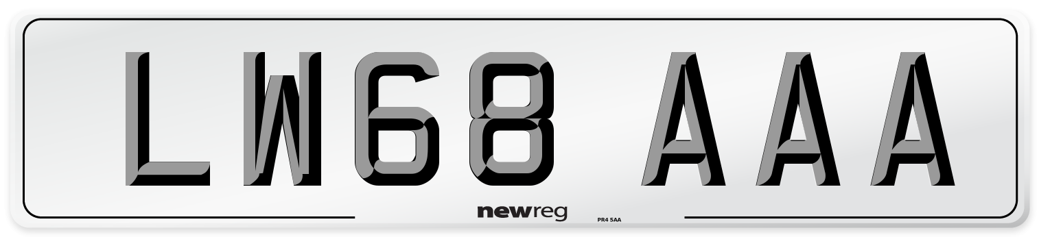 LW68 AAA Number Plate from New Reg