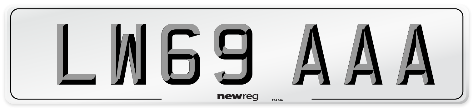 LW69 AAA Number Plate from New Reg