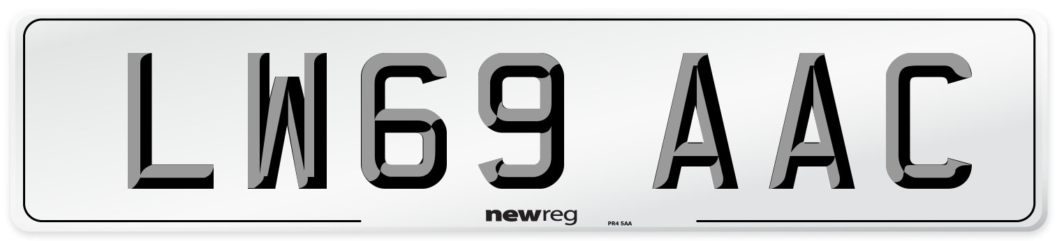 LW69 AAC Number Plate from New Reg