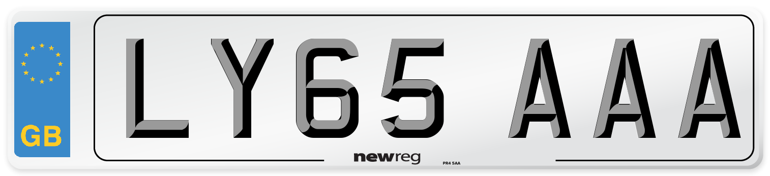 LY65 AAA Number Plate from New Reg