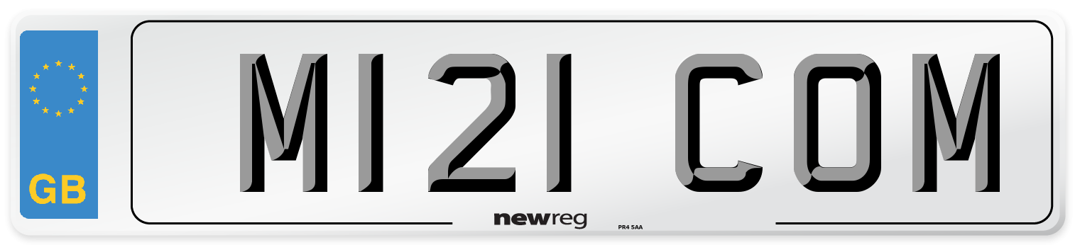 M121 COM Number Plate from New Reg