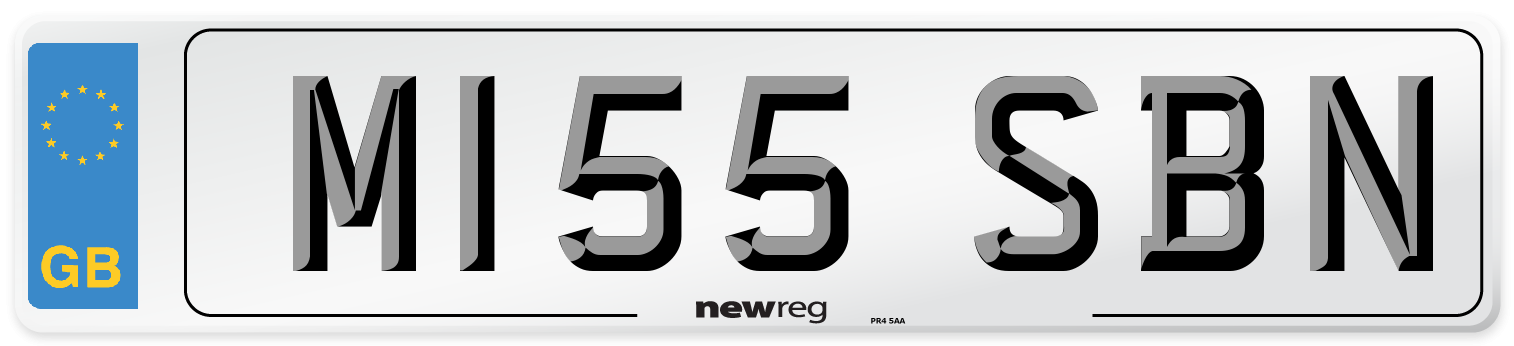 M155 SBN Number Plate from New Reg
