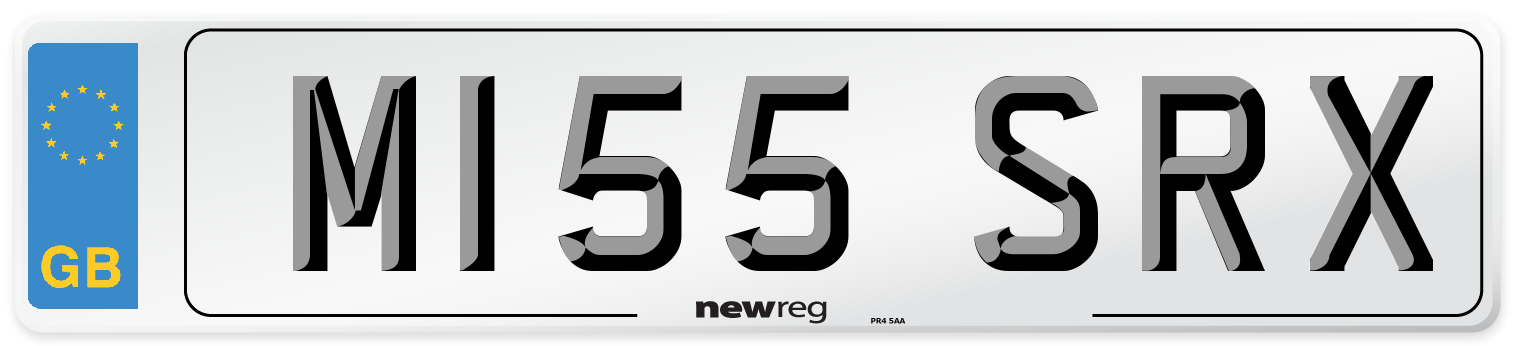 M155 SRX Number Plate from New Reg