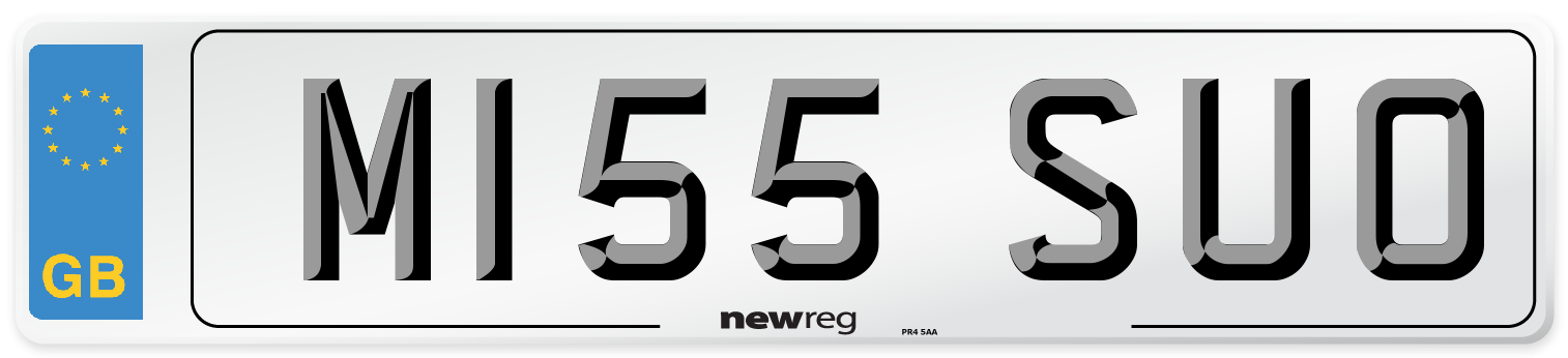 M155 SUO Number Plate from New Reg