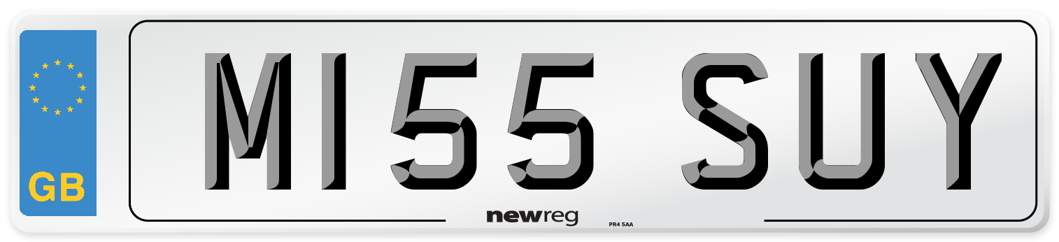 M155 SUY Number Plate from New Reg
