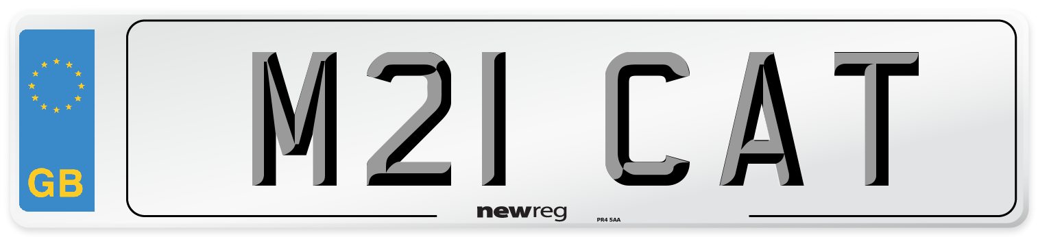 M21 CAT Number Plate from New Reg