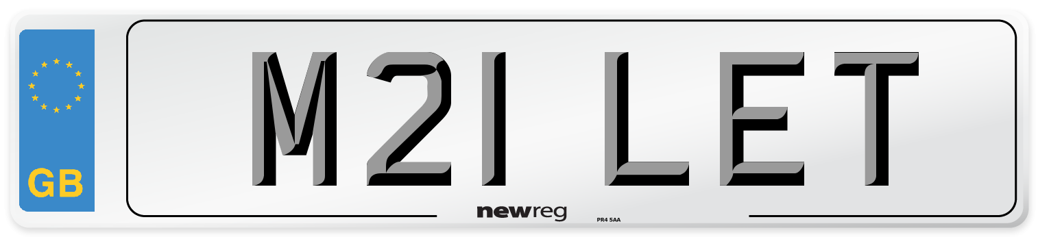 M21 LET Number Plate from New Reg