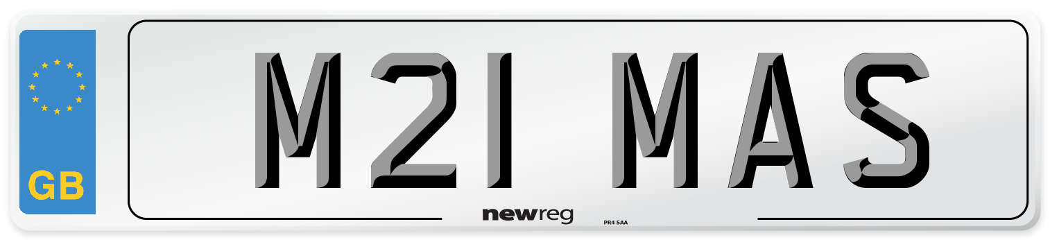 M21 MAS Number Plate from New Reg