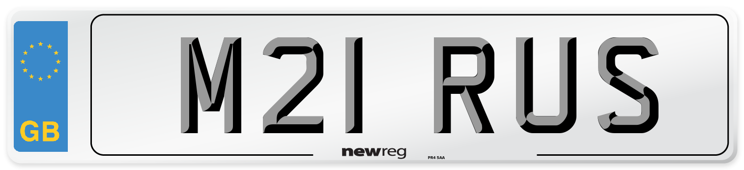 M21 RUS Number Plate from New Reg
